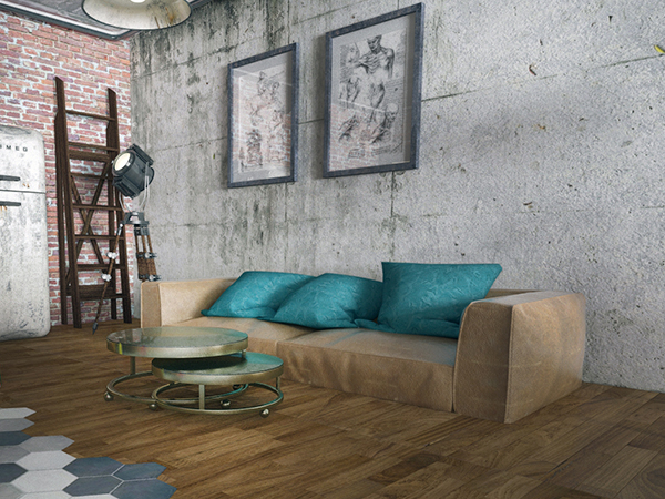 loft design visualisation 3D